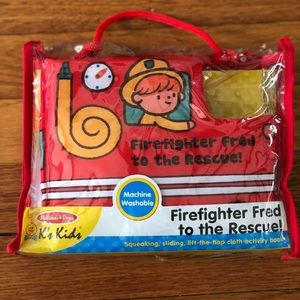 Firefighter Fred Cloth Activity Book